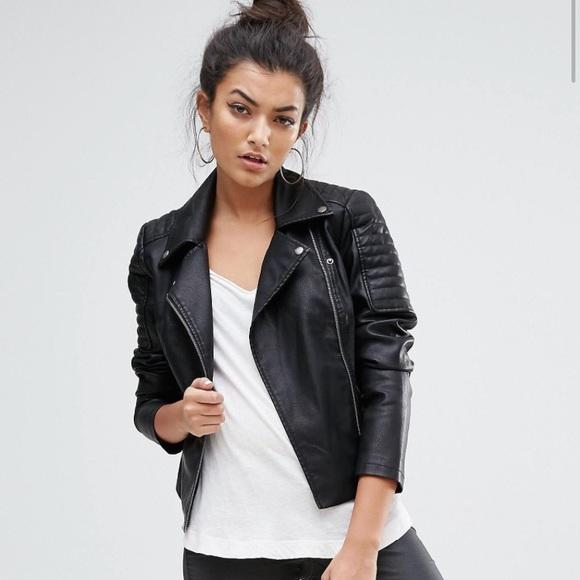 439d7b931b1 Forever21 Black Leather Jacket